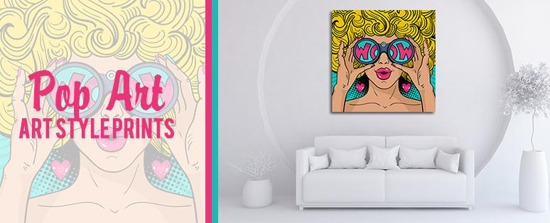Pop Wall Art Prints And Living Room Design