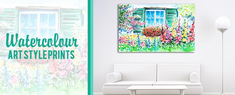 Watercolour Wall Art Prints On Home Designs