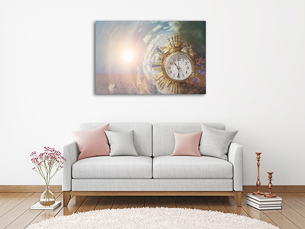 360 City on the Clock Canvas Art