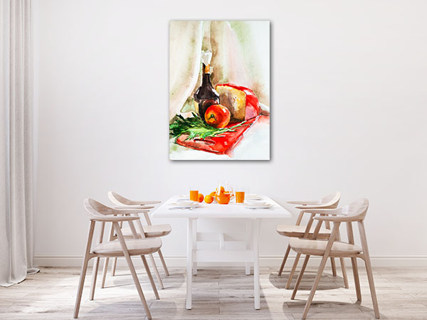 A Bottle Of Olive Oil Canvas Prints