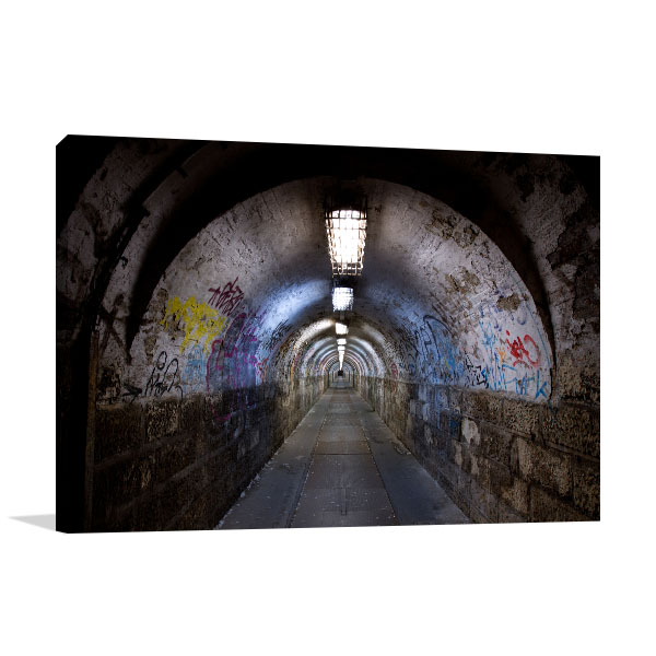 Abandoned Tunnel Canvas Art Prints