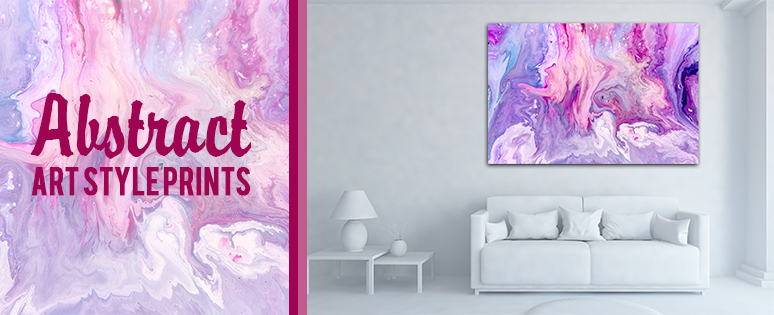 Abstract Art Style Prints In House Interior Designs