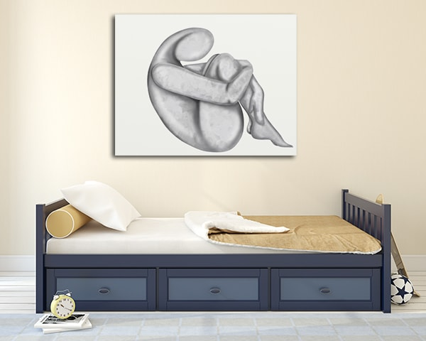 Abstract Body Print Artwork