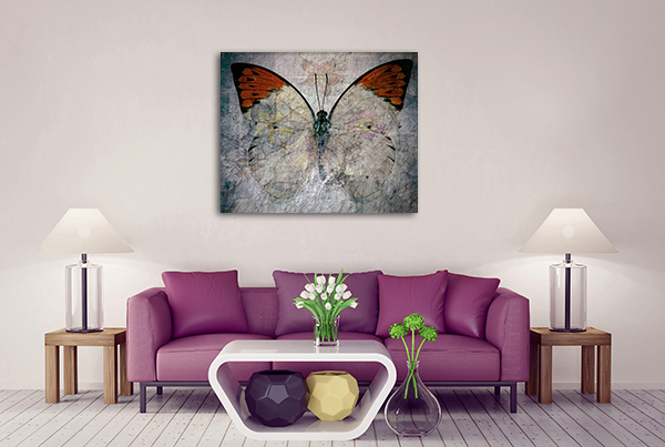 Abstract Butterfly Canvas Prints