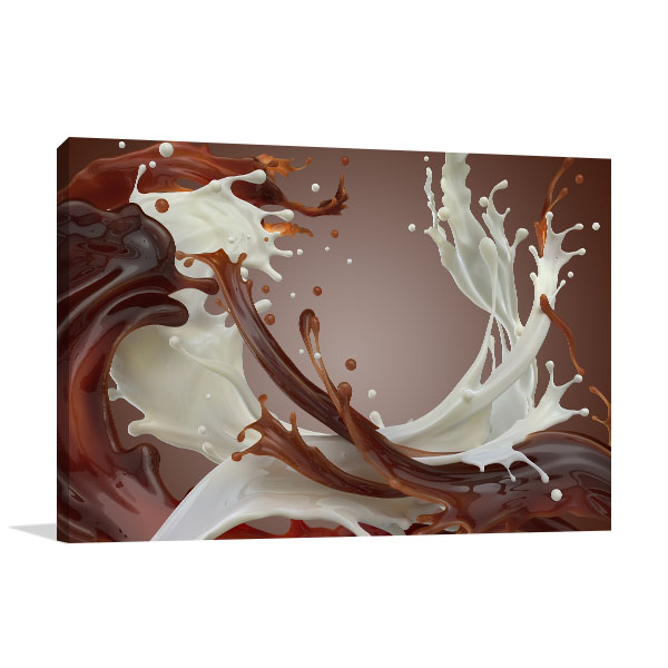 Abstract Chocolate Wall Art