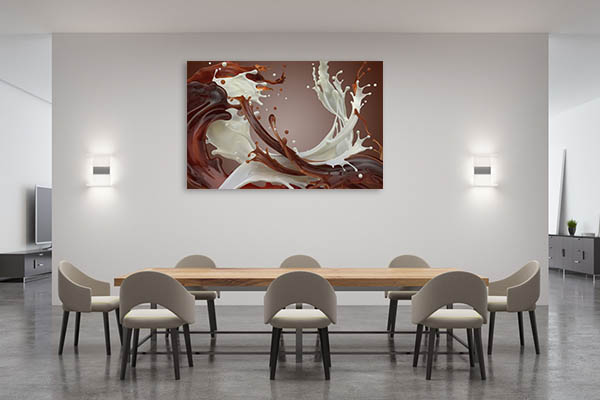 Abstract Chocolate Art Prints