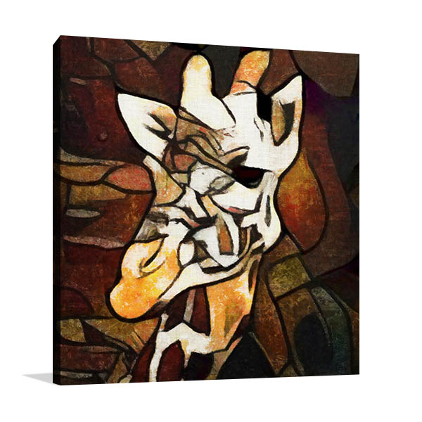 Abstract Giraffe Head Art Print Canvas Prints