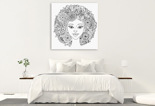 Abstract Hair Wall Art