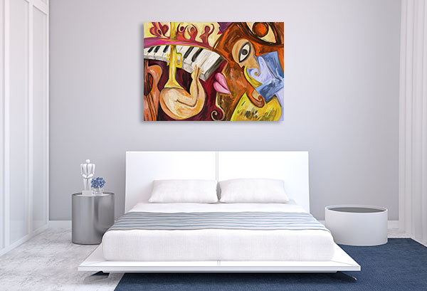 Abstract Jazz Music Canvas Art