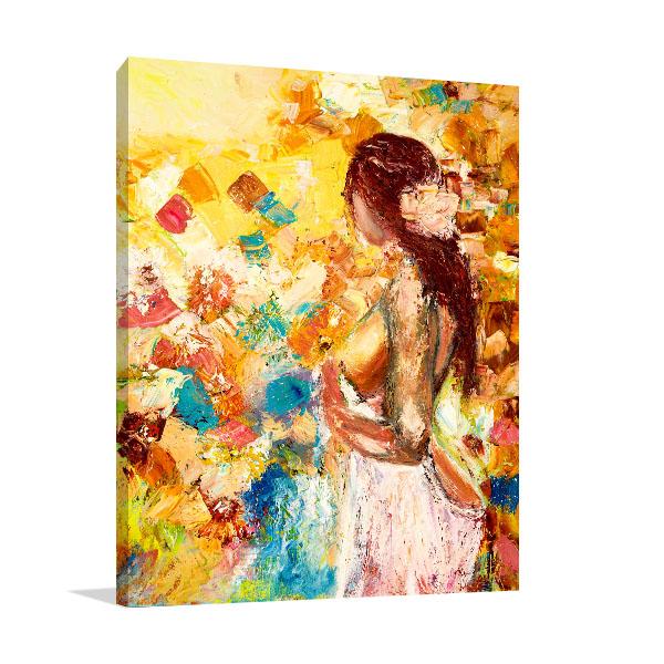 Abstract Naked Woman Print Artwork