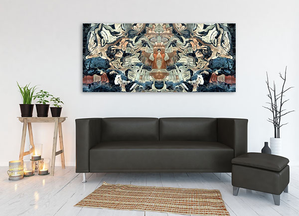 Abstract Tribute to Van Gogh Art Print on the wall