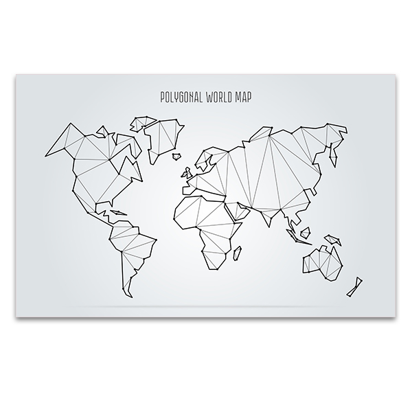 Abstract World Map Canvas Art Prints