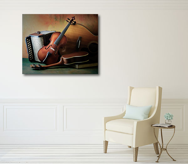 Acoustic Musical Instruments Canvas Art Prints