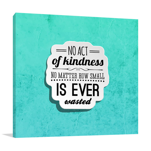 Act of Kindness Canvas Prints