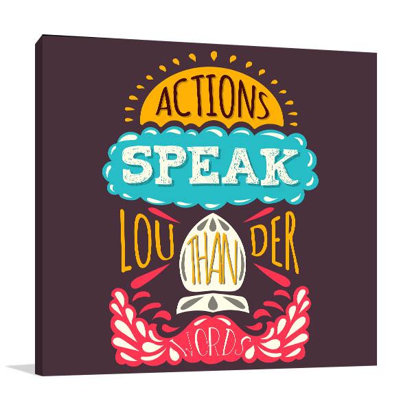 Action Speaks Artwork