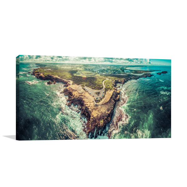 Aerial Thunder Point Warnambool Canvas Prints