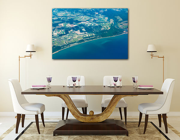 Aerial View Hervey Bay Canvas Art Prints