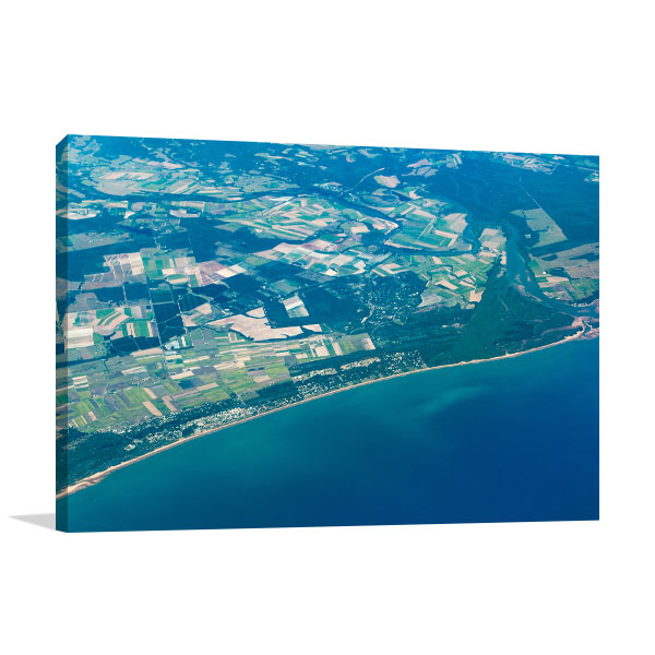 Aerial View Hervey Bay Wall Art