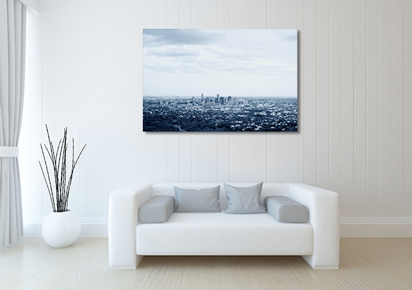 Aerial View of Brisbane City Canvas Art Prints