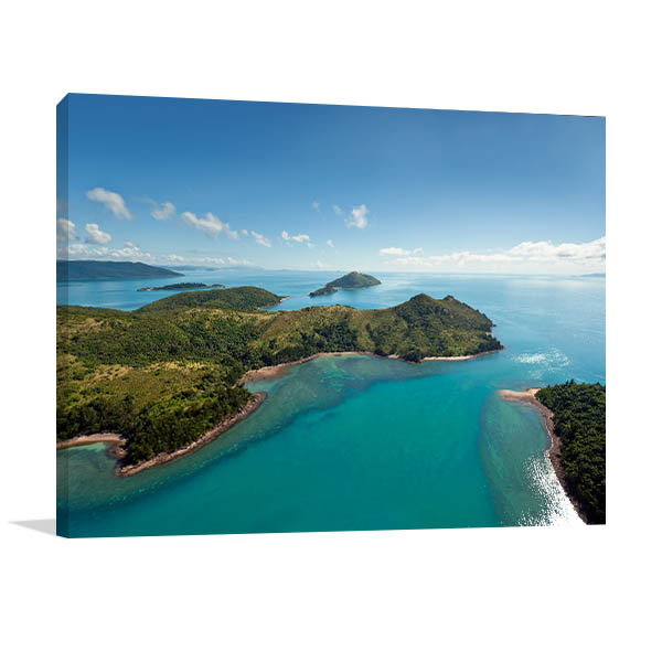 Aerial View Whitsunday Art Print Nature Prints Canvas