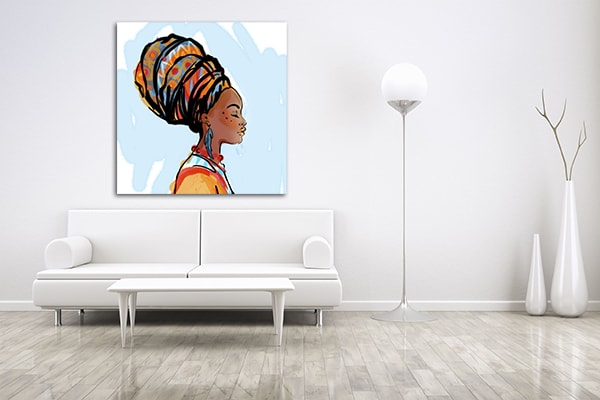 African Beauty Print Artwork