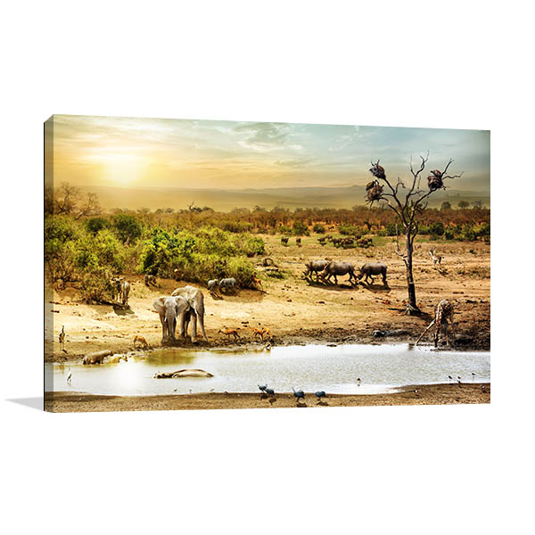 African Safari Canvas Art Print Art Prints