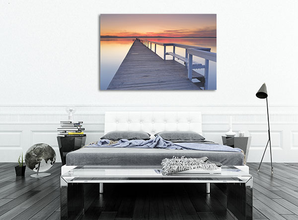 After sunset at Long Jetty Central Coast Canvas Prints