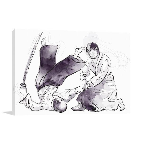 Aikido Martial Canvas Prints