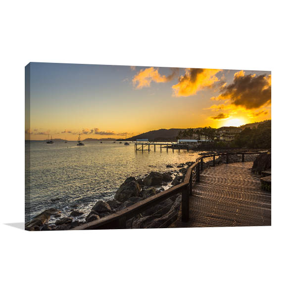 Airlie Beach Art Print Coral Sea Sunrise Wall Art Photo Print