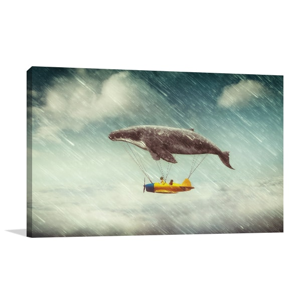 Airship Whale Canvas Art