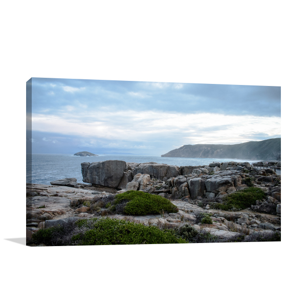 Albany Cloudy Evening Canvas Art