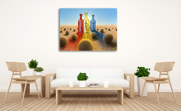 Alien in Bottles Artwork
