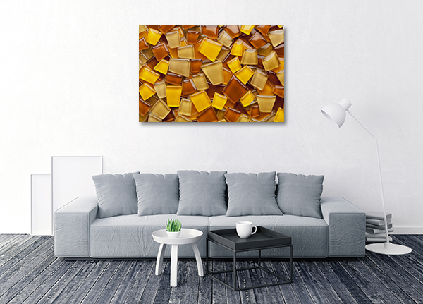 Amber Glass Canvas Art