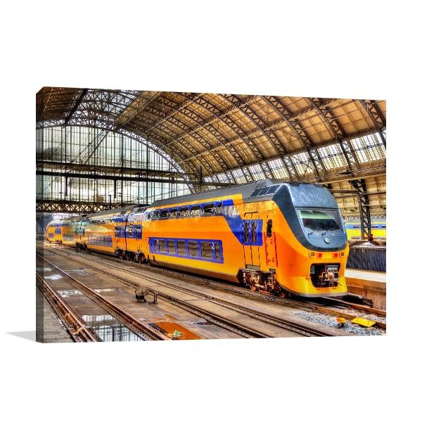Amsterdam Train Print Artwork