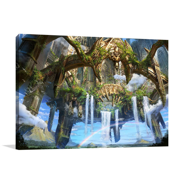 Ancient Ruin City Canvas Prints