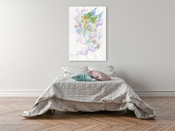 Angel In Watercolour Wall Art