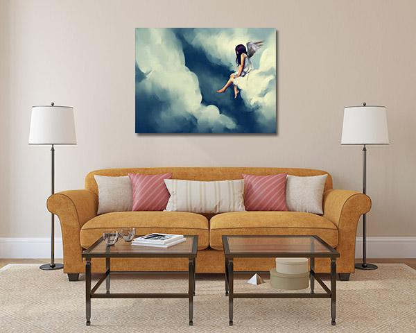 Angel on Cloud Art Prints