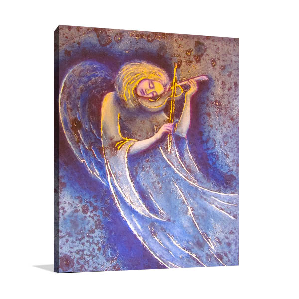 Angel Plays Soul Canvas Prints