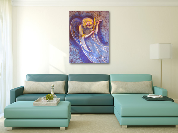 Angel Plays Soul Prints Canvas
