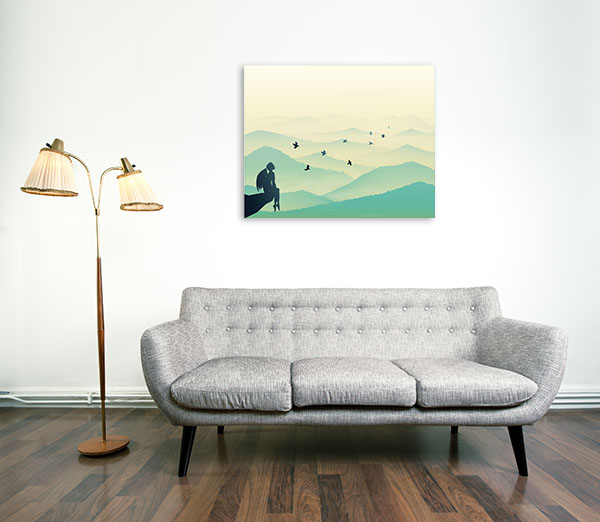 Angel Sitting Canvas Art Prints