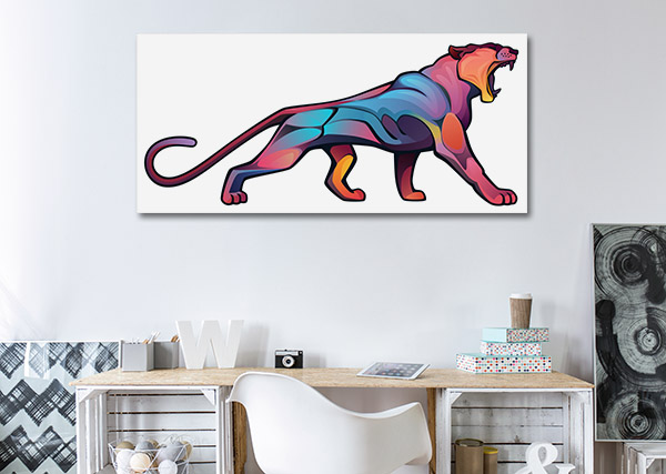 Angry Puma Canvas Prints