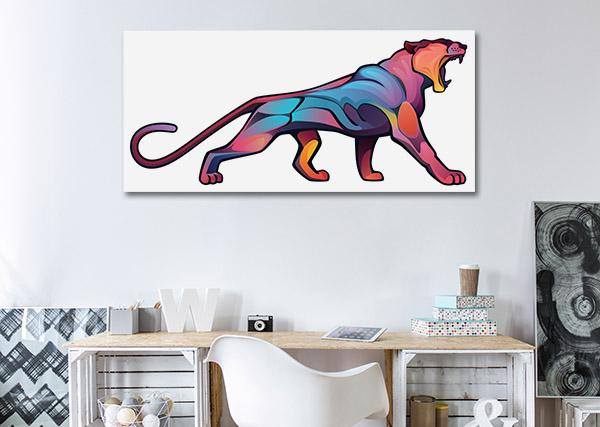 Angry Puma Canvas Prints