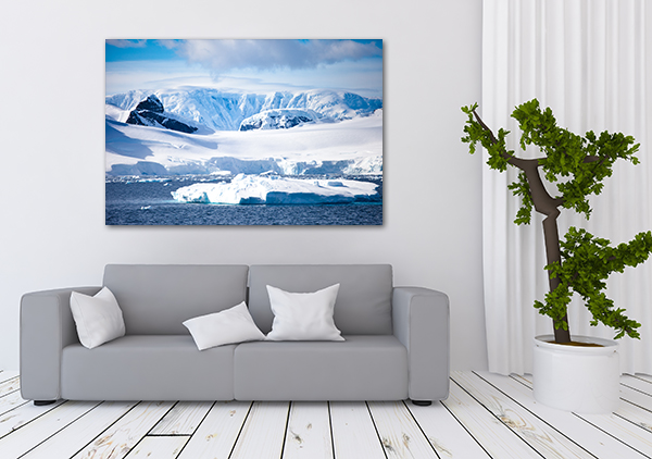 Antarctica Canvas Art Print on the wall