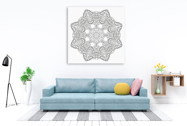 Anti-stress Mandala Canvas Art Prints
