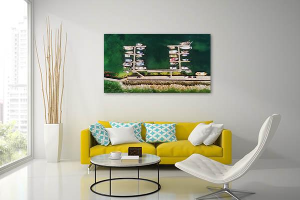 Apollo Bay Marina Yachts Canvas Prints