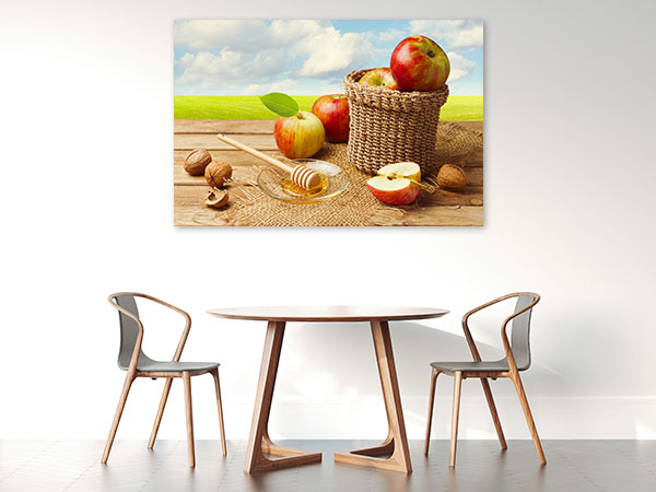 Apples With Honey Canvas Art
