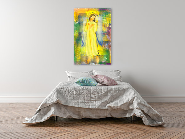 Archangel Hands Crossed Canvas Art
