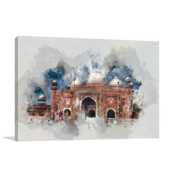 Architecture Splatters Canvas Art Prints