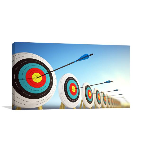 Arrows Hitting Centers Prints Canvas