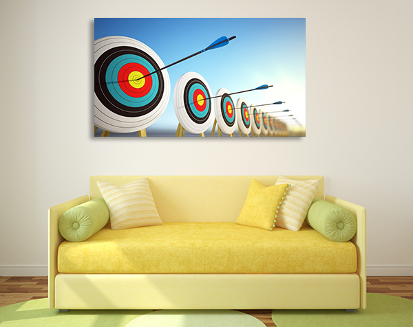 Arrows Hitting Centers Canvas Prints